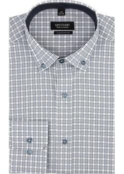 koszula bexley 2031 długi rękaw custom fit szary Recman   - kod rabatowy