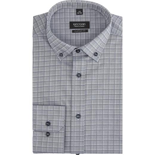 9d9822469 koszula versone 2757 długi rękaw custom fit niebieski Recman 43/188-194