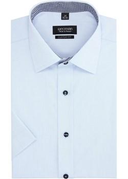 koszula bexley 2496 krótki rękaw custom fit niebieski  Recman  - kod rabatowy