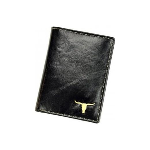 fbe7b784fbeba Elegancki skórzany portfel męski Always Wild Dowód rejestracyjny RM-04-BAW  BUFFALO Czarny Wild