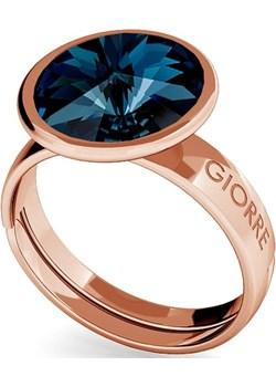 SREBRNY PIERŚCIONEK SWAROVSKI RIVOLI 10MM 925 : Kolor kryształu SWAROVSKI - Montana, Kolor pokrycia srebra - Pokrycie Różowym 18K Złotem  Giorre  - kod rabatowy