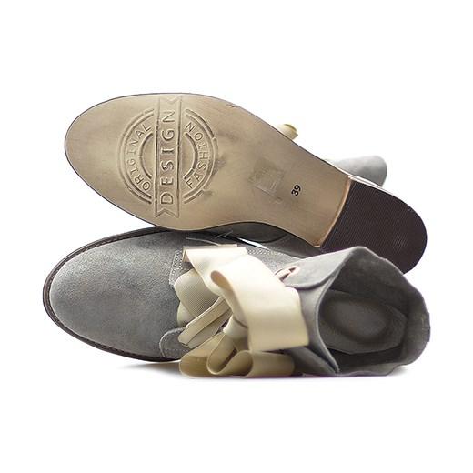 afd867d6fb6d Botki Di Lusso 1858 Beż nakładany szary wyprzedaż Arturo-obuwie w Domodi