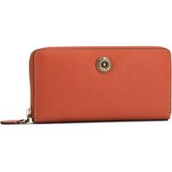 08d02ba0caad4 Pomarańczowe portfele damskie włoskie portfele ze skóry
