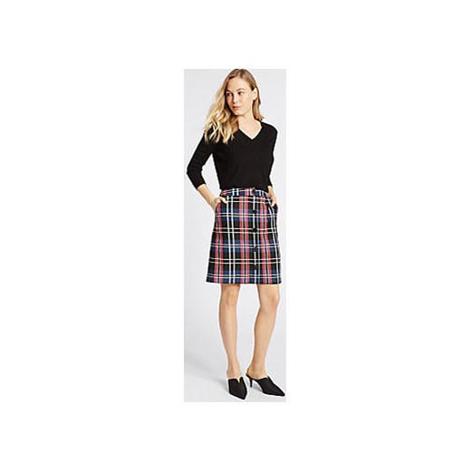 Checked A-Line Mini Skirt  Marks & Spencer   Marks&Spencer