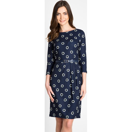 22aea51074 Granatowa sukienka w koła Quiosque 44 quiosque.pl okazja ...
