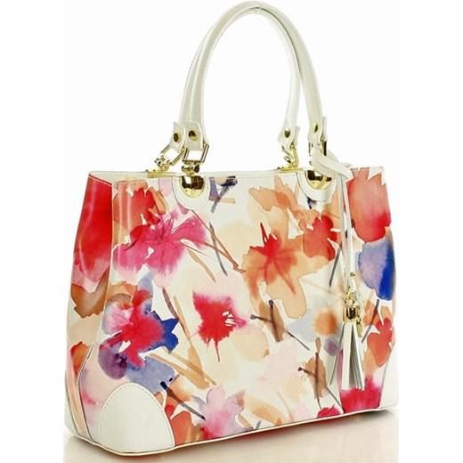 33d54ea09a7eb ... Torebka italian bag kuferek skóra MAZZINI - Alice biała kwiaty Mazzini  okazyjna cena Verostilo. Zobacz  Mazzini