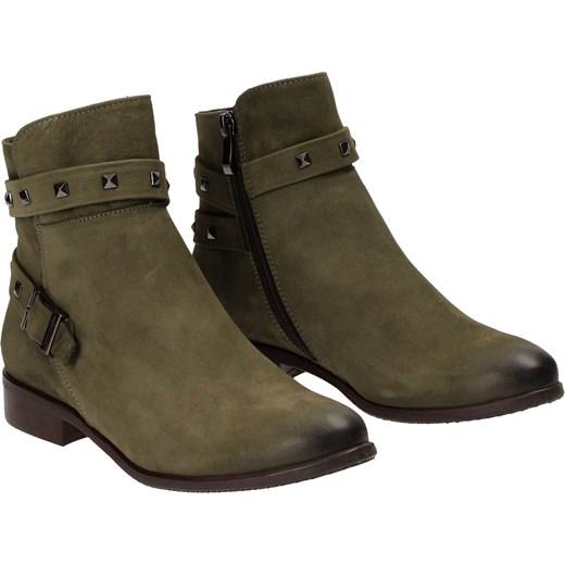 a62131c315248 ... Zielone trzewiki damskie NESSI szary Nessi 39 Wojtowicz Awangarda Shoes