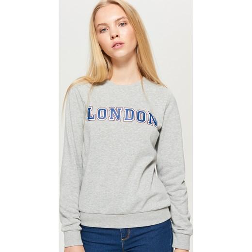71b8a65c1 Cropp - Bluza z napisem london - Jasny szary Cropp M ...