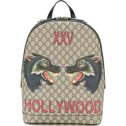 8a15b57bfd2a3 Gucci GG Supreme Hollywood print backpack - Nude & Neutrals Gucci One Size  Farfetch ...