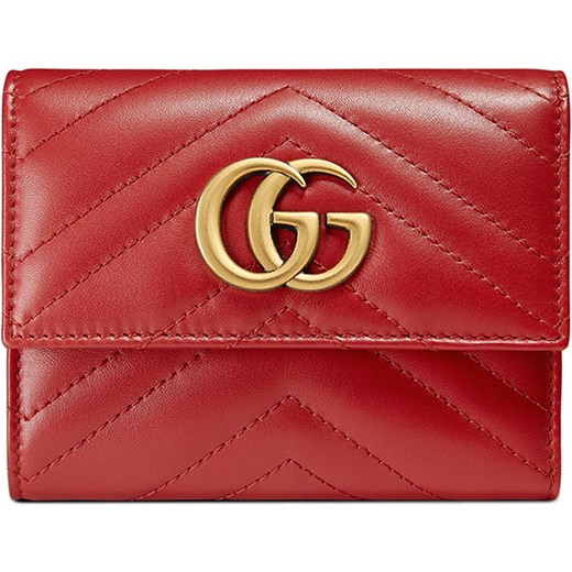 d5a1253a321 Gucci GG Marmont matelassé wallet - Red Gucci One Size Farfetch ...