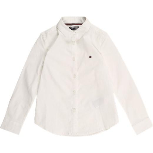 085d43068 Koszula chłopięca beżowa Tommy Hilfiger z bawełny w Domodi