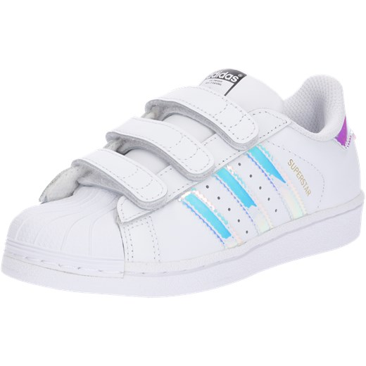 418d397caa665 Trampki dziecięce białe Adidas Originals bez wzorów na rzepy w Domodi