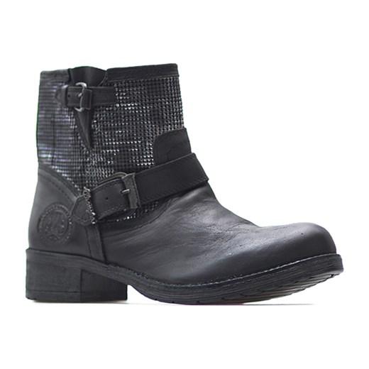 94037962bc09d Wrangler 142546-62 Czarne arturo-obuwie czarny Botki skórzane w Domodi