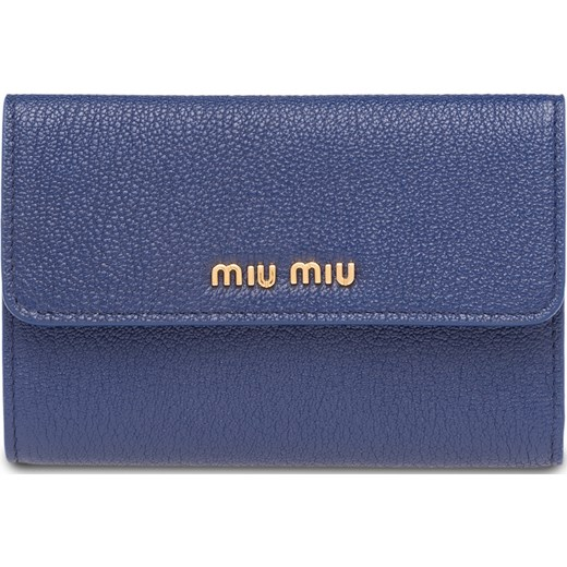 57deab1ab4d98 Miu Miu Madras flap wallet - Blue Miu Miu One Size Farfetch ...