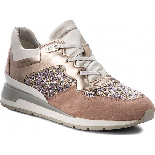 d4cd46327fe7f Sneakersy GEOX - D Shahira B D62N1B 0AJAY C8A1W Antique Rose/Silver Geox 41  okazja