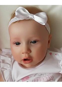 Opaska niemowlęca biała z białą kokardką Piccolino  piccolino-sklep.pl - kod rabatowy