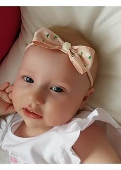 Opaska niemowlęca łososiowa kokardka  Piccolino piccolino-sklep.pl - kod rabatowy