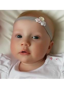 Opaska niemowlęca szara różyczki  Piccolino piccolino-sklep.pl - kod rabatowy