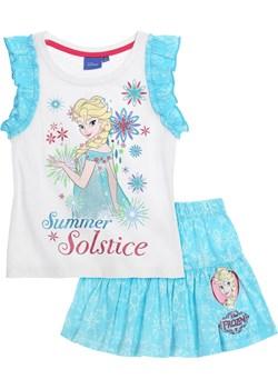 Komplet dziewczęcy Frozen - Kraina Lodu ze spódniczką, rozmiar 110 piccolino-sklep-pl turkusowy bawełna - kod rabatowy