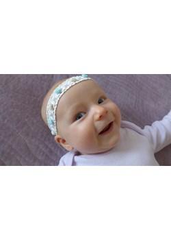 Opaska niemowlęca dla dziewczynki różyczki miętowe Piccolino  piccolino-sklep.pl - kod rabatowy