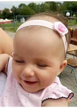 Opaska niemowlęca dla dziewczynki, jasny róż Piccolino  piccolino-sklep.pl - kod rabatowy