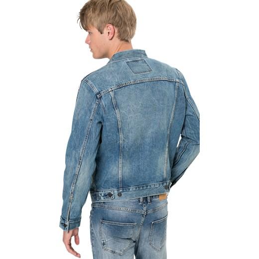 332857b9b6300 Kurtka męska Levis z jeansu z napisem młodzieżowa; Kurtka męska Levis  niebieska z napisem ...