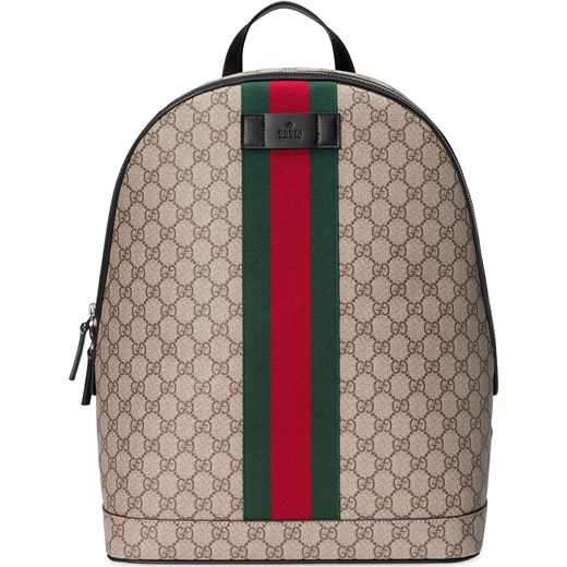 eef802481e356 Gucci GG Supreme backpack with Web - Nude & Neutrals Gucci One Size  Farfetch ...