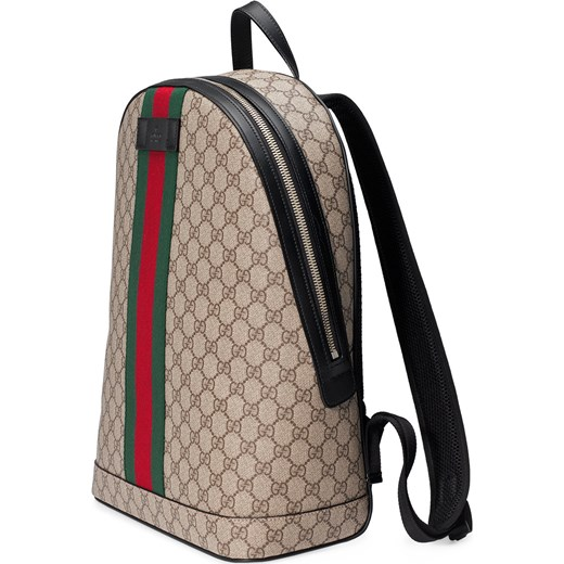 f8f87a6ac94d2 ... Gucci GG Supreme backpack with Web - Nude & Neutrals Gucci One Size  Farfetch ...