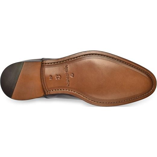 f2530c97d7c52 Eleganckie ciemne brązowe skórzane buty męskie typu Oxford Van Thorn  EleganckiPan.com.pl ...