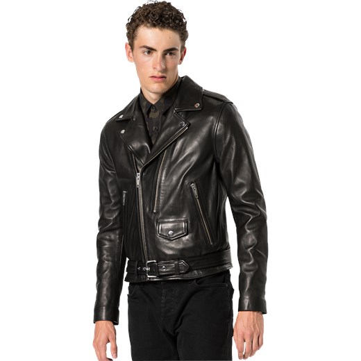 d86e588bfe ... Kurtka przejściowa 'LEATHER JACKET WITH DOUBLE PULLER FRONT AND CENTRE' The  Kooples XXL AboutYou