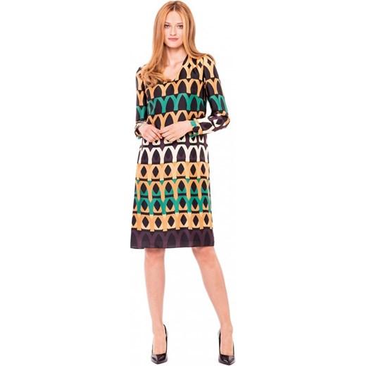 faf5785820 Sukienka z geometrycznym wzorem L AF KENZO rozowy L af Eye For Fashion w  Domodi