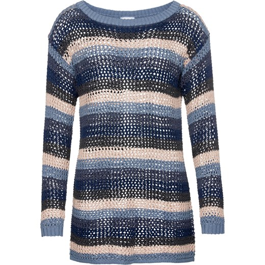 4d1e9075c6 Sweter ażurowy w paski