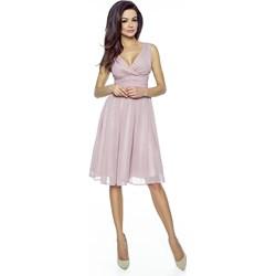 f13c4ef8de Sukienka z szyfonu kopertowy dekolt Km117 na wesele - zdjęcie produktu