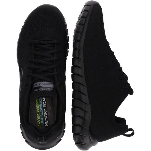 Buty sportowe męskie czarne Skechers na lato