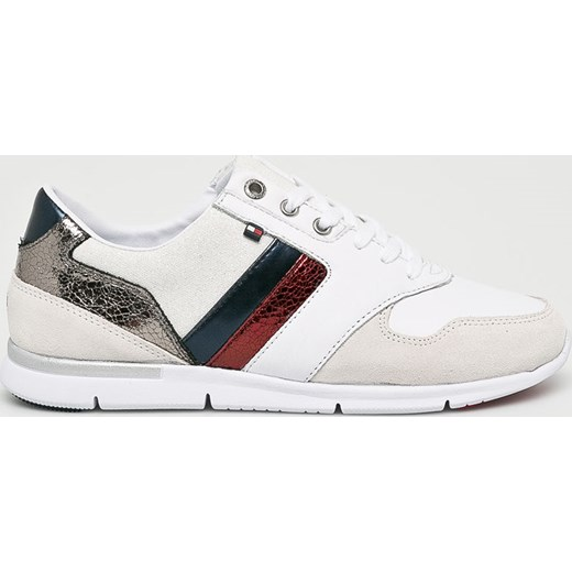 7146fb442ab7b Buty sportowe damskie Tommy Hilfiger sneakersy bez wzorów białe w Domodi