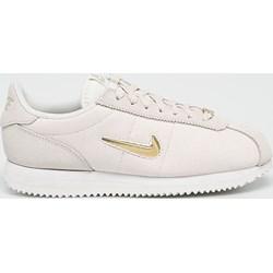 buy popular bc3f1 4fffe Buty sportowe damskie Nike sneakersy cortez beżowe sznurowane skórzane bez  wzorów