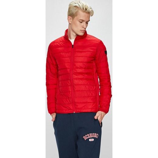 04222a45c913 Kurtka męska Jack  amp  Jones czerwona z poliestru bez wzorów casual ...