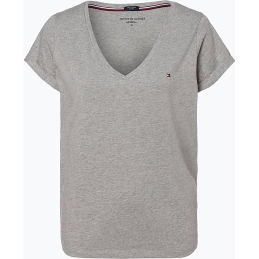 48b4aa3a1 Tommy Hilfiger - T-shirt damski, szary vangraaf w Domodi