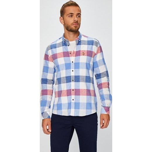 479e4ebea9dc Wielokolorowa koszula męska U.S Polo Assn. w kratkę jesienna casual ...