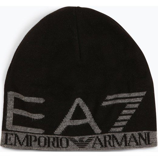 7f87e46c5ad41 EA7 - Dwustronna czapka męska, czarny Ea7 One Size vangraaf