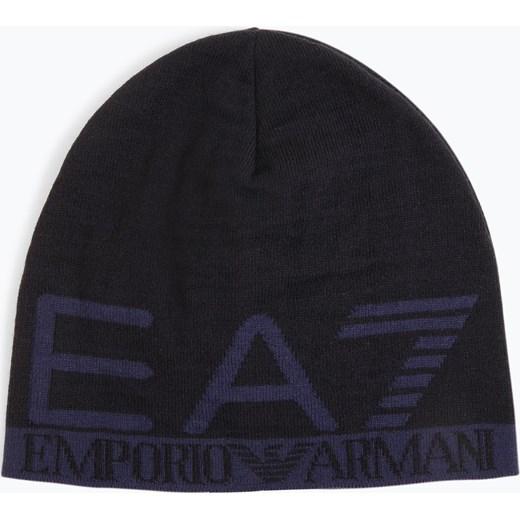 18f1d57ec1dde EA7 - Dwustronna czapka męska, niebieski Ea7 One Size vangraaf