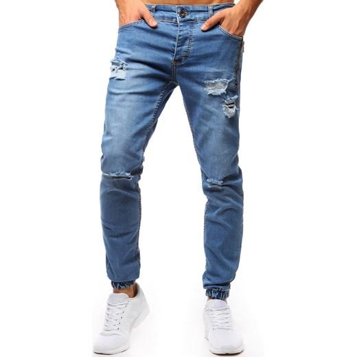 7866c545c1b46d Spodnie joggery jeansowe męskie niebieskie (ux1275) Dstreet promocja w  Domodi