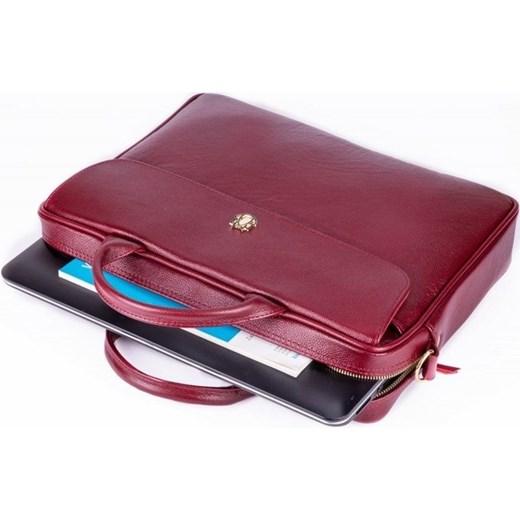 ad2e8cc78e16e ... Skórzana torba aktówka damska na laptopa FELICE bordowa Felicegold  Skorzana.com ...
