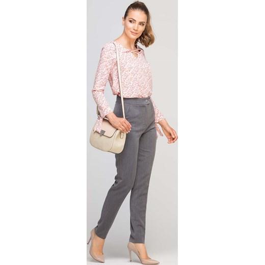 987f257fb5e9 Grafitowe Eleganckie Spodnie z Podwyższonym Stanem Molly.pl w Domodi