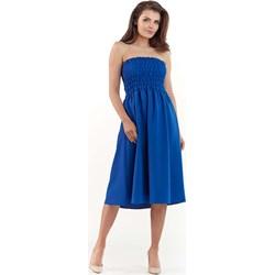 8d90a3891f80a Niebieskie sukienki pastelowe bez rękawów na co dzień, zima 2019 w ...
