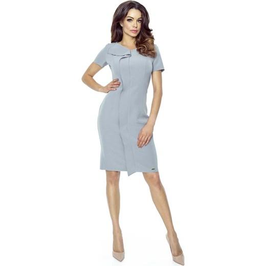 209e417f43 Szara Sukienka Elegancka Mini z Plisą szary Molly.pl w Domodi