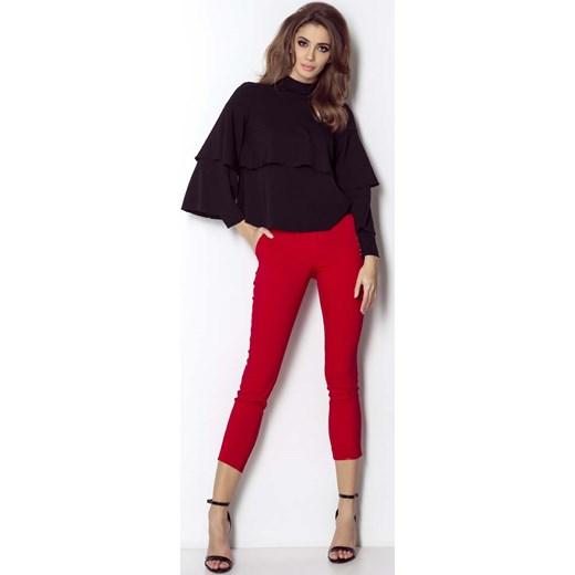 efad65257e7d1d Czerwone Spodnie Cygaretki z Rozporkiem na Dole Nogawki Wow Point M MOLLY.PL