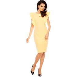 24d97151d7 Żółte sukienki koktajlowe midi
