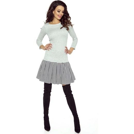 3a82db05f1 Pepitka Sukienka z Plisowanym Dołem w Szkocką Niebieską Kratę Molly ...
