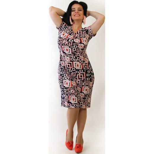 0e7e555b32d3da Sukienka maskująca niedoskonałości KLAUDIA Oscar Fashion w Domodi